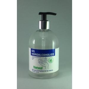 Gel hidroalcoholico NATYSAL para  limpieza de las manos 500ml ( caja 8 unidades)